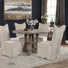 Delroy, Armless Chair, Stone Ivory,