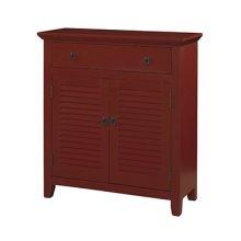 Red Shutter 1 Drawer 2 Doors Console