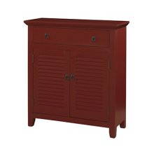 Red Shutter 1 Drawer 2 Doors Console