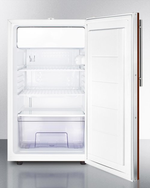 """Commercially Listed 20"""" Wide Built-in Undercounter Refrigerator-freezer With A Lock, White Exterior, and Integrated Door Frame for Overlay Panels"""