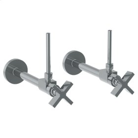 "Lavatory Angle Stop Kit -1/2"" Sweat X 3/8"" Od Compression"