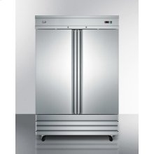 Commercially Approved Frost-free Reach-in Two-door Freezer In Complete Stainless Steel; Replaces Scfi495