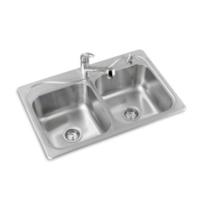 "Southhaven® Double-basin Kitchen Sink, 33"" x 22"""