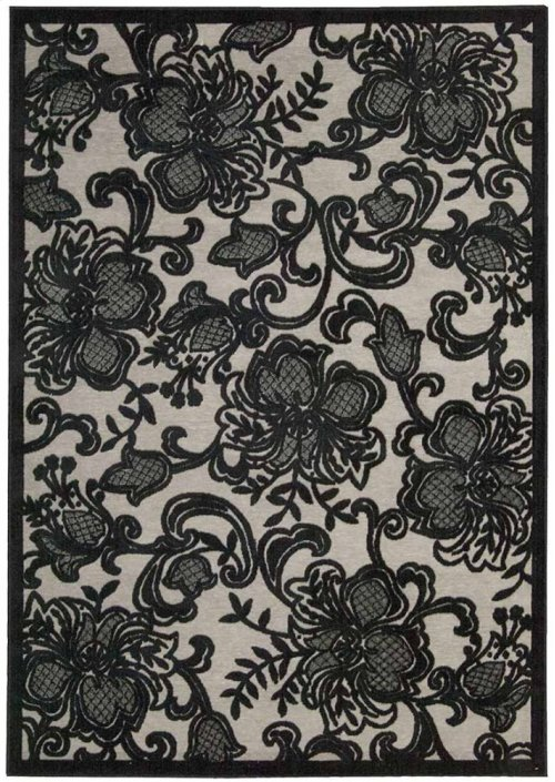 Graphic Illusions Gil02 Pewtr Rectangle Rug 5'3'' X 7'5''