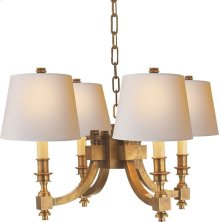 Visual Comfort MS5020HAB-NP Michael S Smith Eiffel 4 Light 22 inch Hand-Rubbed Antique Brass Chandelier Ceiling Light