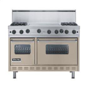 """Taupe 48"""" Open Burner Range - VGIC (48"""" wide, four burners 24"""" wide griddle/simmer plate)"""
