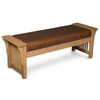 Prairie Mission Bench, Leather Cushion Seat Product Image