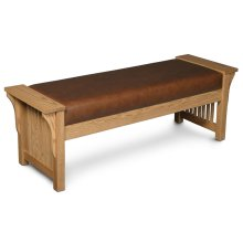 Prairie Mission Bench, Leather Cushion Seat