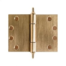 """Butt Hinge (Wide Throw) - 4 1/2"""" x 6"""" Silicon Bronze Brushed"""