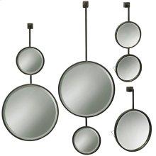 Set of 4 Droplet Metal Beveled Mirrors