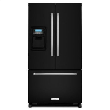 KitchenAid® 20 cu. Ft. 36-Inch Width Counter Depth French Door Refrigerator with Exterior Ice and Water - Black