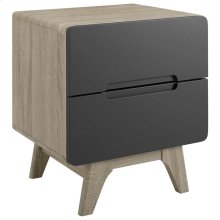 Origin Wood Nightstand or End Table in Natural Gray