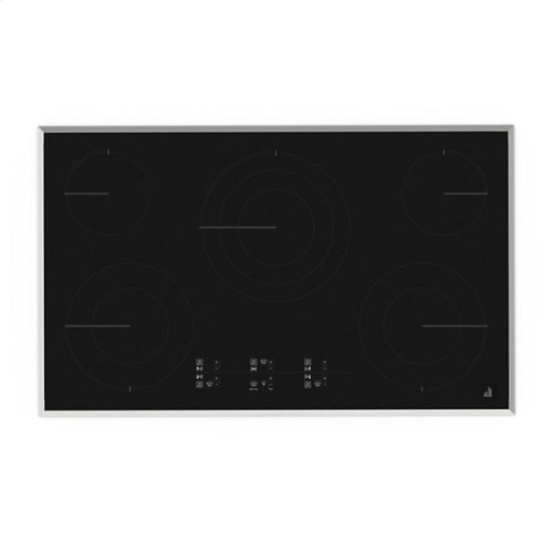 "Jenn-Air® Lustre Stainless 36"" Electric Cooktop with Glass-Touch Electronic Controls - Stainless Steel"