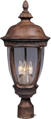 Knob Hill Cast 3-Light Outdoor Pole/Post Lantern