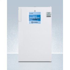 SummitCommercially Approved Nutrition Center Series All-freezer In White for Built-in or Freestanding Use, With Front Lock and Digital Temperature Display