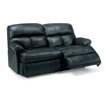 Triton Leather Power Reclining Studio Sofa