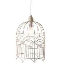 Large Birdcage Pendant. 100W Max. Hard Wire Only.