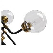 Hugo Table lamp/Metal+Glass/Polished Brass+Matte Black/23.5*23.5*31.5