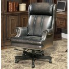 DC#105 Smoke Wipe Leather Desk Chair Product Image