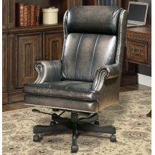 DC#105 Smoke Wipe Leather Desk Chair
