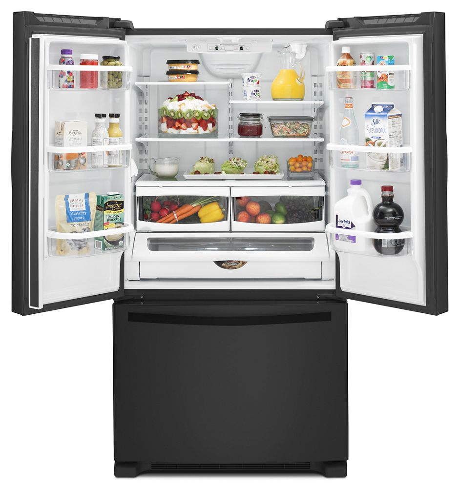 36 Inch Wide French Door Refrigerator With Interior Water Dispenser   25  Cu. Ft