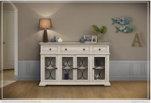 Console w/ 4 glass doors w/ 3 Drawers