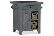 Tuscan Retreat® Small Kitchen Island With 2 Baskets - Nordic Blue