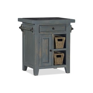 Hillsdale FurnitureTuscan Retreat(r) Small Kitchen Island With 2 Baskets - Nordic Blue