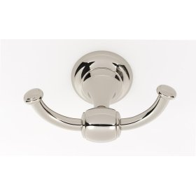 Royale Double Robe Hook A6684 - Polished Nickel
