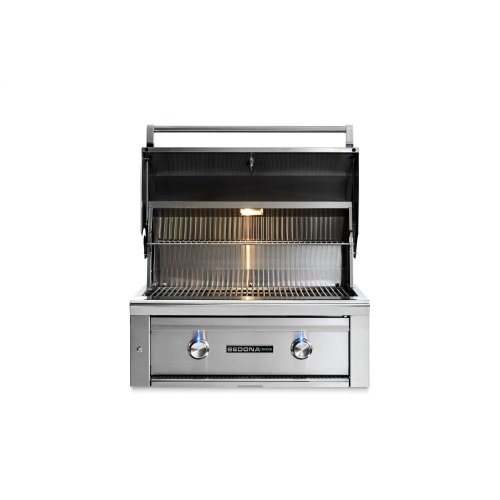 "30"" Sedona by Lynx Built In Grill with 1 Stainless Steel Burner and ProSear Burner, NG"