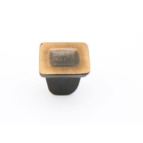 """Vinci, Square Knob, Antique Bronze, 1-1/4"""" dia"""