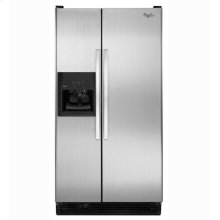 25 cu. ft. Side-by-Side Refrigerator with Full-Width Adjustable Slide-Out SpillGuard Glass Shelves