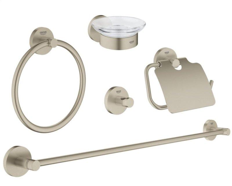 Essentials Master Bathroom Accessories Set 5 In 1 Hidden