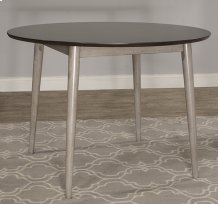 Mayson Round Dining Table - Gray With Chocolate Finish Top