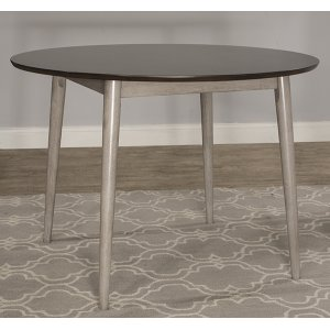 Hillsdale FurnitureMayson Round Dining Table - Gray With Chocolate Finish Top
