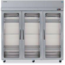 Refrigerator, Three Section Upright, Full Glass Door