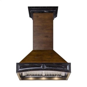 "Zline KitchenZLINE 30"" Designer Series Wooden Wall Range Hood with Crown Molding (321AR-30) **NEW MODEL**"