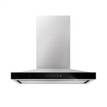 """Lustre Stainless 36"""" Pyramid Style Canopy Wall Hood"""