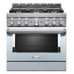 KitchenaidKitchenAid(R) 36'' Smart Commercial-Style Gas Range with 6 Burners - Misty Blue