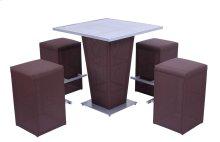 Bar Table W/ 4 Barstools Brown