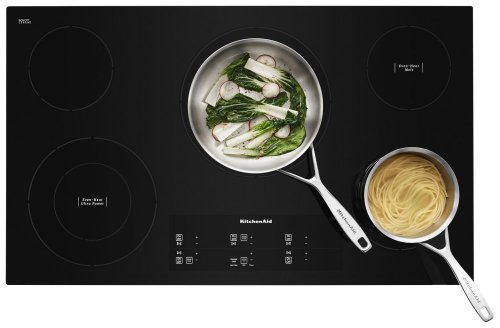 "36"" Electric Cooktop with 5 Elements and Touch-Activated Controls - Black"