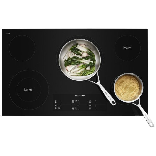 """36"""" Electric Cooktop with 5 Elements and Touch-Activated Controls - Black"""