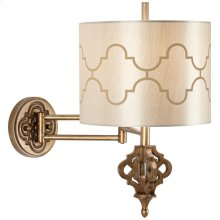 Golden Palace Swing Arm Wall Lamp