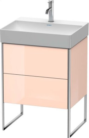 Vanity Unit Floorstanding, Apricot Pearl High Gloss Lacquer