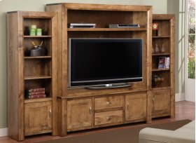 Contempo Side Unit Bookcase Only from CO460 Wall Unit