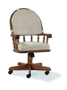 Classic Oak Tilt/Swivel Chair (with Castors)