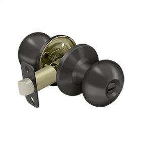 Portland Knob Privacy - Oil-rubbed Bronze