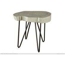 Authentic Live-Edge High Chair Side End Table