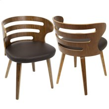 Cosi Chair - Walnut Wood, Brown Pu