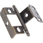 "3/4"" Frame x 3/4"" Door Flush Hinge Antique Brass"